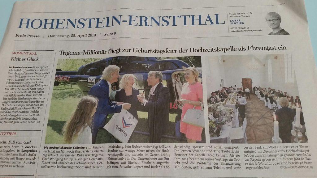 Wolfgang Grupp mit Gattin Elisabeth anlässig der Auszeichnung als Ehrenmitglied